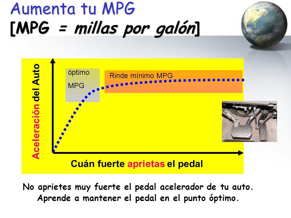 Aumenta tu MPG [MPG = millas por galón]